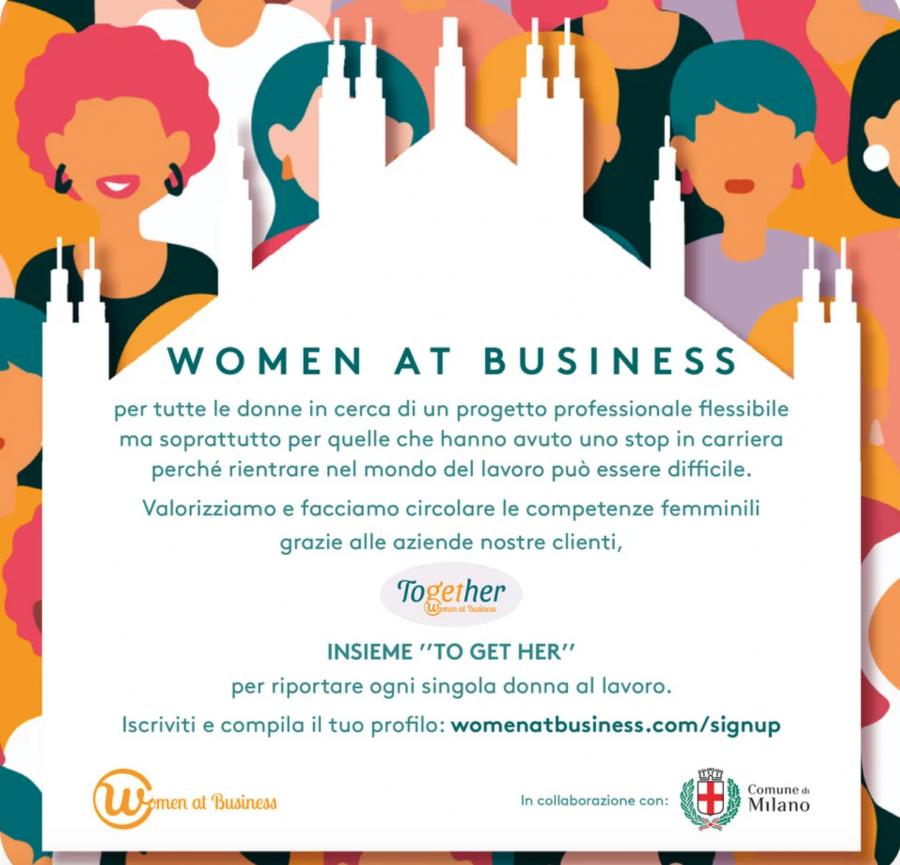 Startupitalia.eu Il Comune di Milano insieme a Women at Business per sostenere l'occupazione delle donne (post pandemia)
