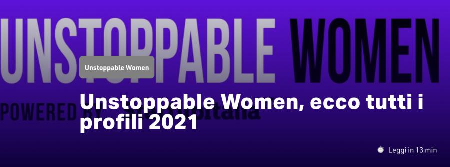 StartupItalia. Unstoppable Women